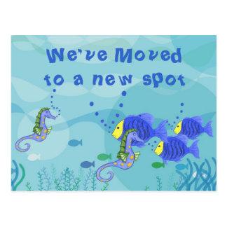 Hemos movido vida acuática - modifique la postal p