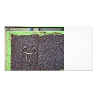 hemostat rusting metal grunge work photo card