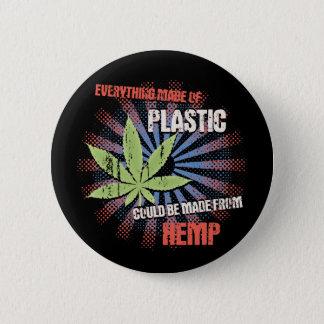 Hemp Plastic Pinback Button