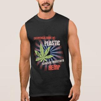 Hemp Plastic Sleeveless Shirt