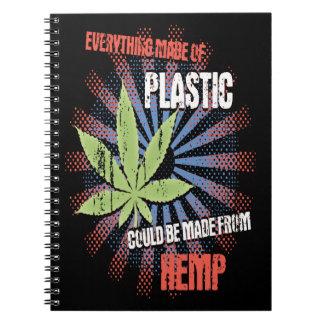 Hemp Plastic Spiral Notebook