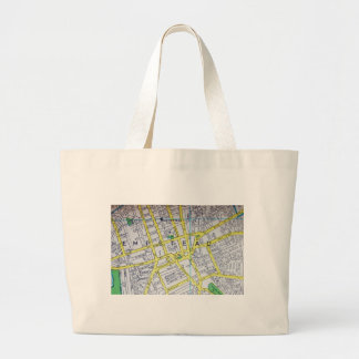Hempstead, NY Vintage Map Large Tote Bag