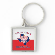 Hempstead Polish Texan Keychain