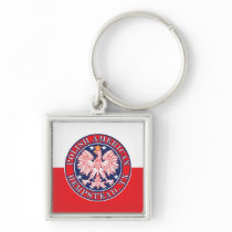 Hempstead Texas Polish American Eagle Keychain