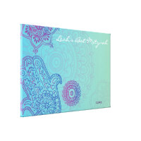 Hemsa Canvas Bat Mitzvah Sign-In Memory Board