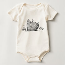 Hen and Chicks Baby Bodysuit