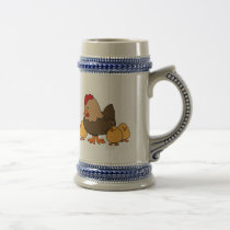 Hen and Chicks Beer Stein