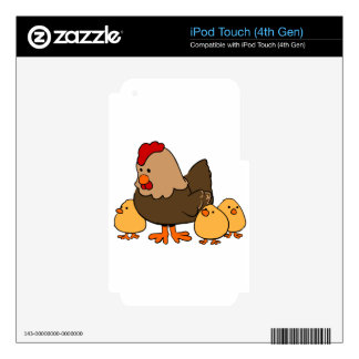 Hen and Chicks Decals For iPod Touch 4G