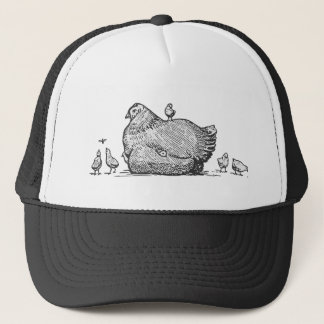 Hen and Chicks Trucker Hat
