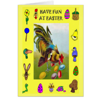 Hen and eggs card