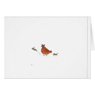 Hen And Grasshopper Card