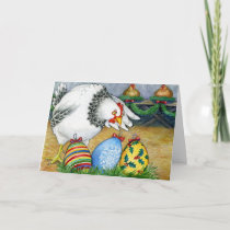 Hen and her Christmas Eggs Holiday Card