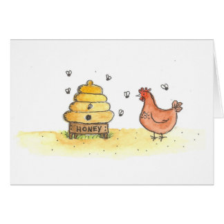 Hen And Hive Card