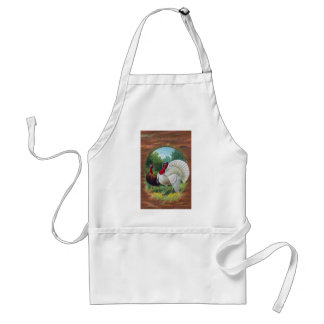 Hen and Tom Turkey Vintage Thanksgiving Adult Apron