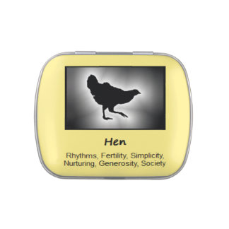 Hen Chicken Animal Spirit Meaning Collectible Jelly Belly Tin