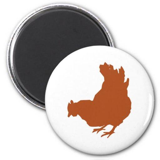 Hen [chicken, farmer, organic eggs] 2 inch round magnet
