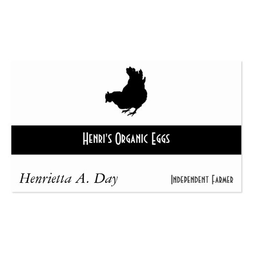 Hen [chicken, farmer, organic eggs] Double-Sided standard business cards (Pack of 100)