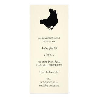 Hen [chicken, farmer, organic eggs] card