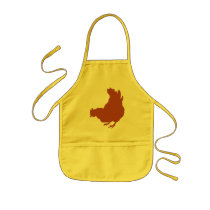 Hen [chicken, farmer, organic eggs] kids' apron