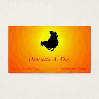 Hen [chicken, farmer, organic eggs] Renset Business Card