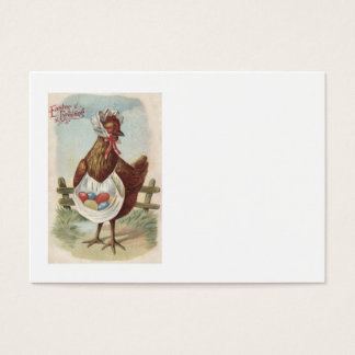 Hen Easter Colored Decorated Painted Egg Farm Business Card