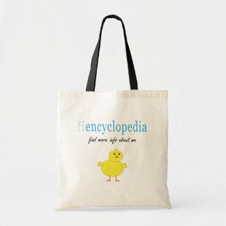 Hen Encyclopedia Canvas Bag