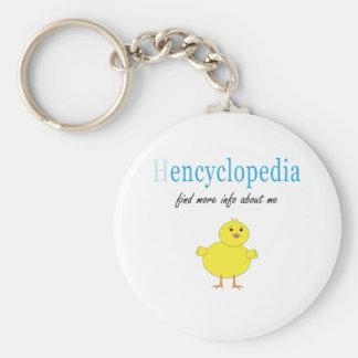 Hen Encyclopedia Key Chains