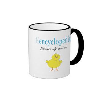 Hen Encyclopedia Ringer Coffee Mug