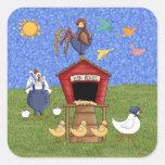 Hen House Square Sticker