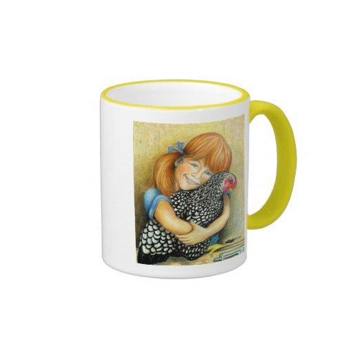 Hen Hugger Ringer Coffee Mug