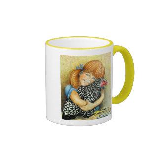 Hen Hugger Ringer Mug