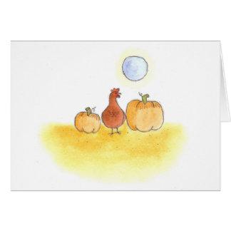 Hen In The Pumpkin Patch Card