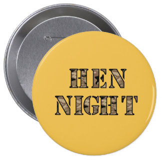 """Hen Night badges - """"Military"""" Buttons"""