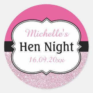 Hen Night Personalized Classic Round Sticker
