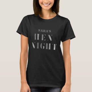 "Hen night t-shirt - ""Silver"""