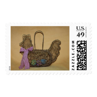 Hen on Nest Country Chicken First Class Stamps