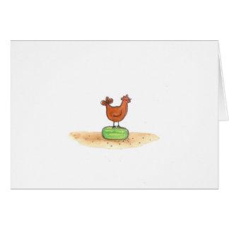 Hen On Watermelon Card