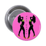 HEN PARTY 2 PINBACK BUTTONS