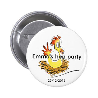Hen party badge (name) (date) button