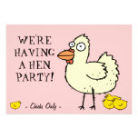 Hen Party! Invite Chicks to bachelorette party