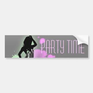 Hen Party Mrs Bride silhouette  Bachelorette Party Bumper Sticker