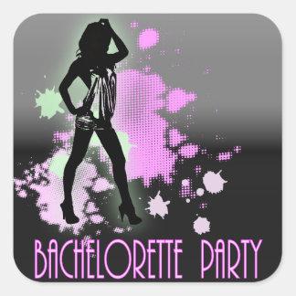 Hen Party Mrs Bride silhouette  Bachelorette Party Square Sticker