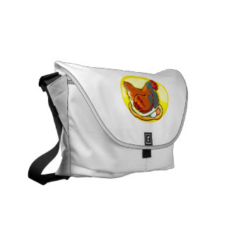 hen sittin gon eggs yellow oval.png courier bag