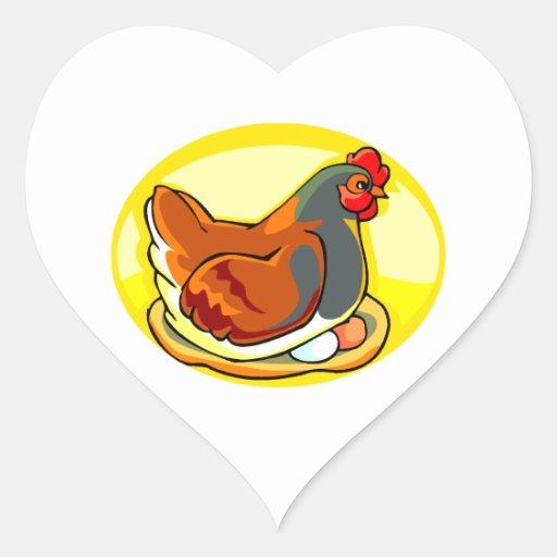 hen sittin gon eggs yellow oval.png sticker