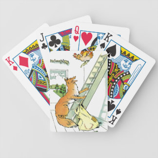 Hen Tries to Escape Fox Bicycle Playing Cards