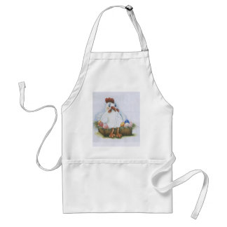 Hen with eggs adult apron