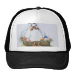 Hen with eggs hats
