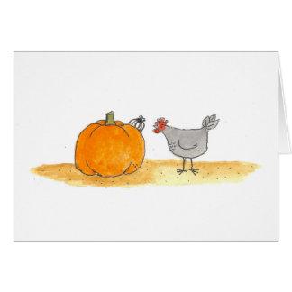 Hen With Spider Card