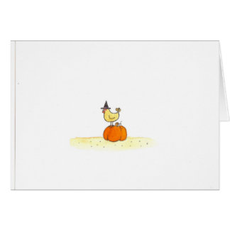 Hen With Witch Hat Card
