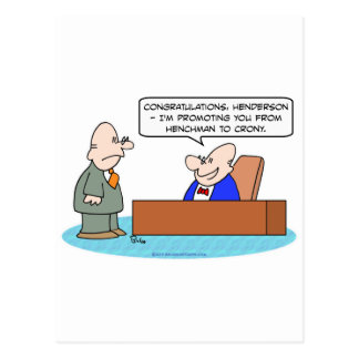henchman crony promoting businessman postcard